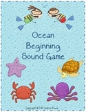 Beginning Sound File Folder Board Game (OCEAN THEME)