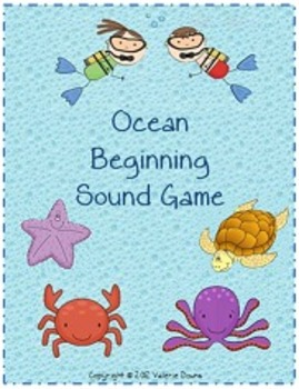 Beginning Sound File Folder Board Game (OCEAN THEME)