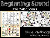 Beginning Sound Alphabet File Folder Games