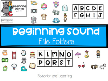 Beginning Sound File Folders for Students with Autism