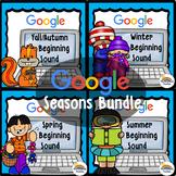 Beginning Sound GOOGLE Game - Seasons Themed Words BUNDLE
