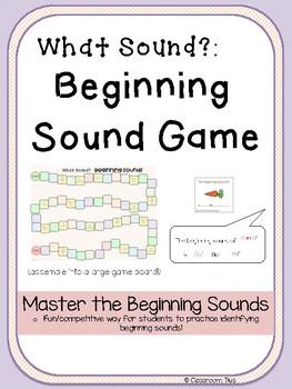 Beginning Sound Game