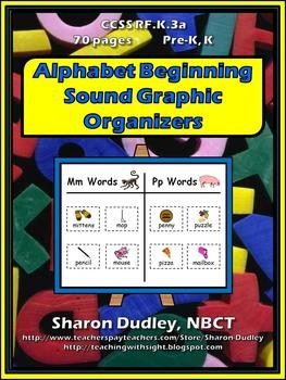 Alphabet Beginning Sound Graphic Organizers