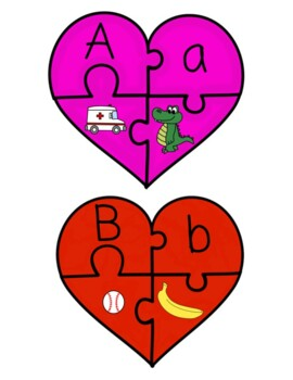Beginning Sound Heart Puzzles