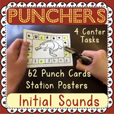 Beginning Sound: Hole Punch Task Cards - 4 Activities