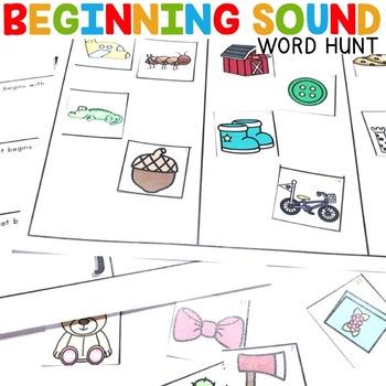 Beginning Sound Hunt | Beginning Sounds Center
