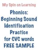 Beginning Sound ID for CVC words