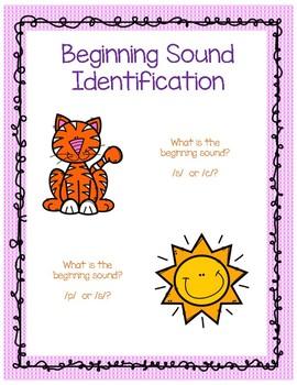 Beginning Sound Identification