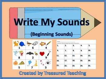 Beginning Sound Identification Activity for Literacy Centers Hands On