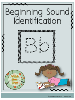 Beginning Sound Identification ~ Letter B (Color the pictures)