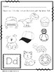 Beginning Sound Identification ~ Letter D (Color the pictures)