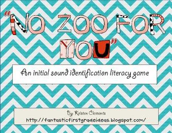 Beginning Sound Identification- {Literacy Game}