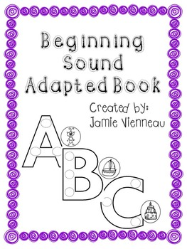 Beginning Sound Interactive Book for Special Education & Early Childhood