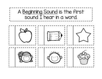 Beginning Sound Interactive Notebook Page