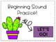 Beginning Sound Interactive PDF- Perfect for Seesaw!