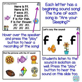 Beginning Sounds Interactive Powerpoints {Alphabet Powerpoints}