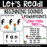 Beginning Sounds Powerpoints {Alphabet Powerpoints} Distance Learning