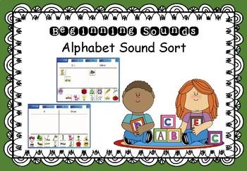 Beginning Sound - Interactive SMART board Alphabet Sort