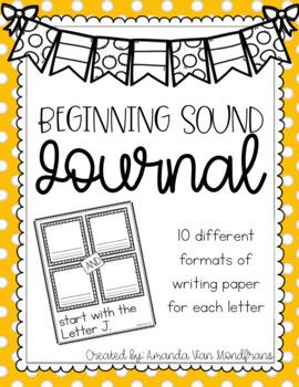 Beginning Sound Journal