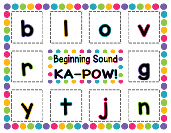 "Beginning Sound KA-POW (4 ""What's the Beginning Sound"" Games) - K and pre-K"