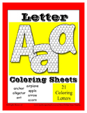 Beginning Sound Letter Coloring Sheets for the Letter A