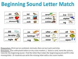 Beginning Sound Letter Match - a sound and letter identification activity