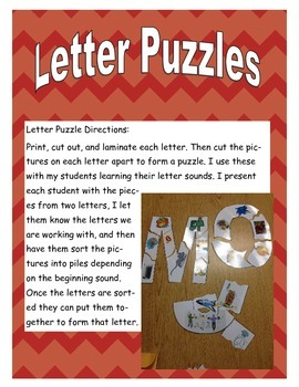 Beginning Sound Letter Puzzles