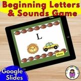 Beginning Sound/Letter Recognition Game : Distance Learnin