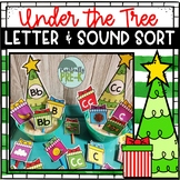 Christmas Beginning Sound & Letter Sort- Gifts Under the Tree