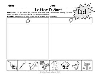 Beginning Sound Letter Sorts ( A-z)