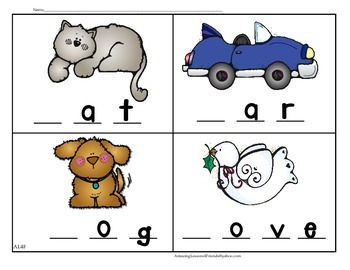 Beginning Sound Letter Work Sheets and Mats