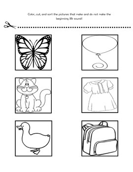 Beginning Sound Letter/Picture Sort Phonemic Awareness Pack (A-Z)