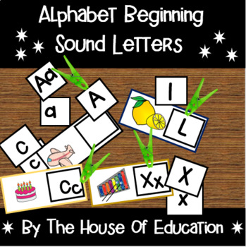Beginning Sound Letters Clip Cards