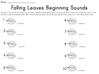 Beginning Sound Literacy Center - Fall