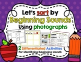 Beginning Sound Literacy Center and Small Group Activity