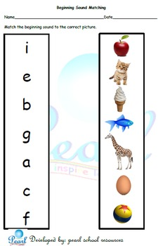 Beginning Sound Match