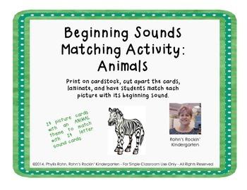 Beginning Sound Match: Animals