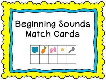 Beginning Sound Match Cards