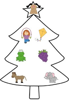 Beginning Sound Match Christmas Trees