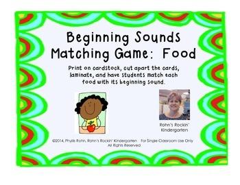Beginning Sound Match: Food