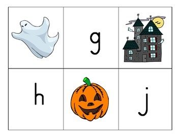 Beginning Sound Match: Halloween