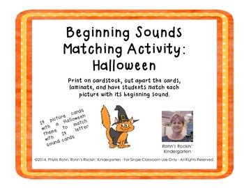 Beginning Sound Match: Halloween