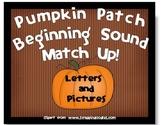 Beginning Sound Match Up or Memory