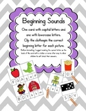 Beginning Sound Match-uppercase & lowercase