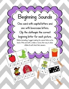 Beginning Sound Match-uppercase & lowercase