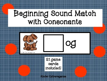 Beginning Sound Match with Consonants