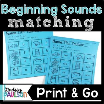 Beginning Sound Matching No Prep