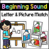 Beginning Sound Picture Sort - Letter Sound and Letter Rec