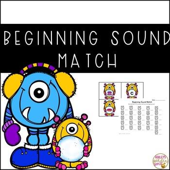 Beginning Sound Matching Activity - Winter Themed