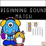 Beginning Sound Matching Activity - Winter Themed
